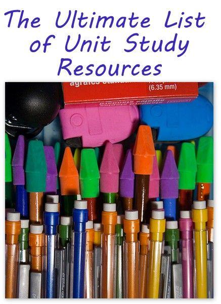 Unit Study Resources