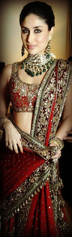 Beautiful sari and jewels