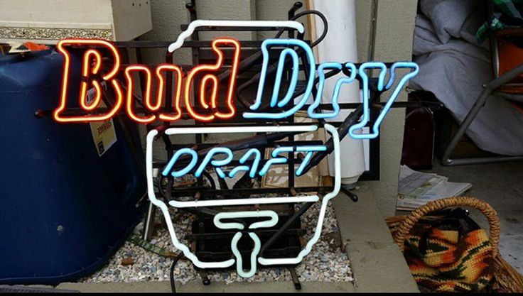 Bud Dry Bud Light Neon Sign Real Neon Light