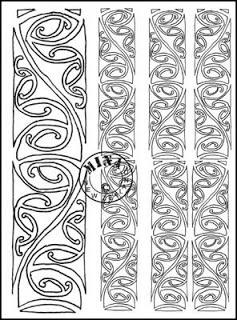 Kowhaiwhai Colouring Page 2