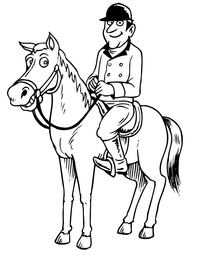 The 14 best images about Kentucky Derby coloring pages on