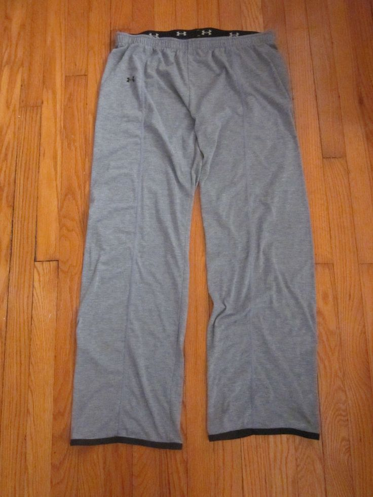 UNDER ARMOUR Men's Workout Gear Athletic Thin Gray Lounge Pull On Pants M Medium #UnderArmour #Pants