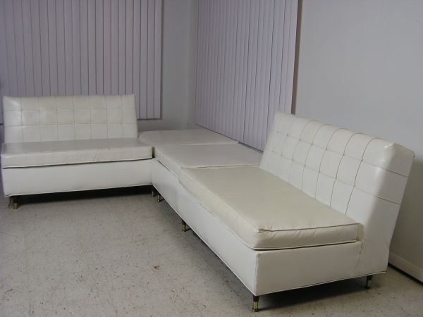 1960u0027s Mid Century Modern White Vinyl Sectional Sofa Retro Couch   $500  (Evansville, IN) | Local Finds | Pinterest | Retro Couch, White Vinyl And  Sectional ...