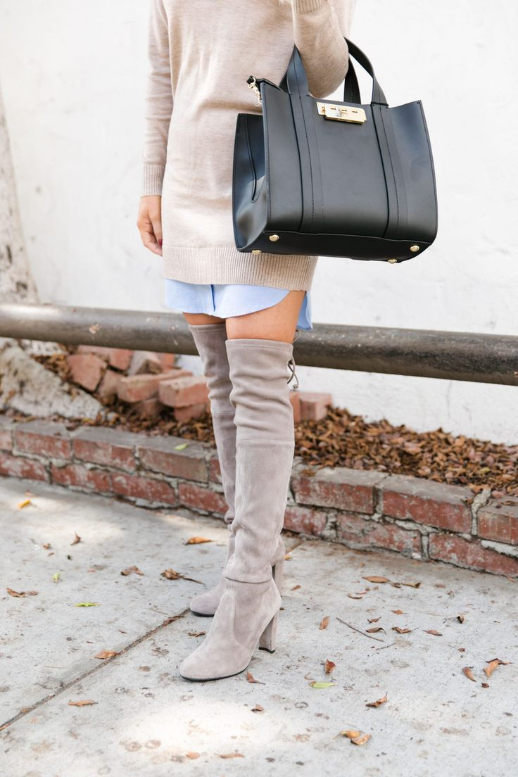 32c31a365e9 Suede Over The Knee Boots styled for Fall by top Orange County fashion  blog