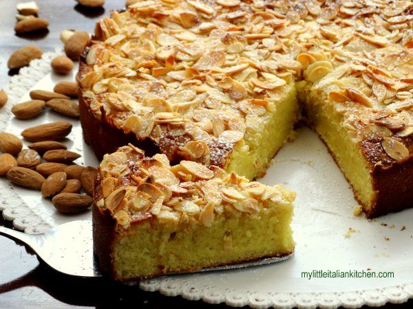 Almond, Ricotta and Lemon Cake gluten free | My Little Italian Kitchen