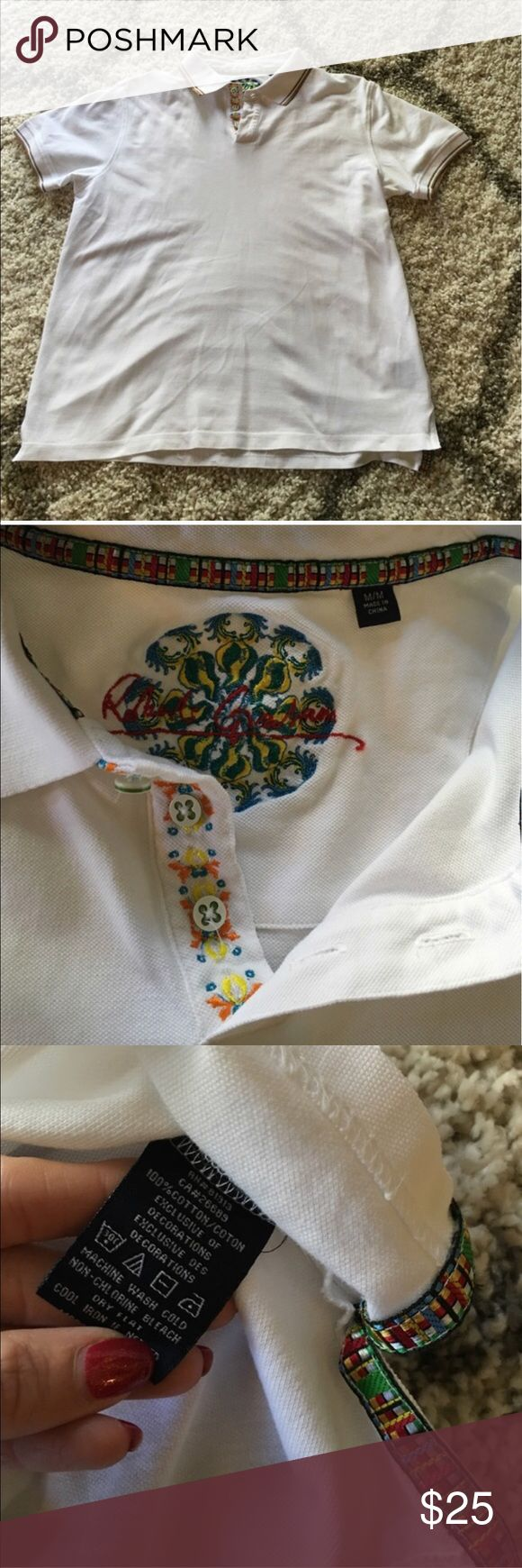 Robert Graham white polo shirt size medium Looks new, in mint condition size is medium color is white Robert Graham Shirts Polos