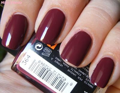 Blog de Verniz de Unhas - Miss Verniz: dark crimsom 364 kiko