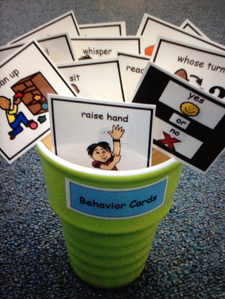 Behavior Cards Autism Don't Forget the Visual Supports: Social Skills, Visual Supports, Data Sheets, Schedules, Etc. https://www.teacherspayteachers.com/Store/Dont-Forget-The-Visual-Supports Classroom, Special Education, Autism