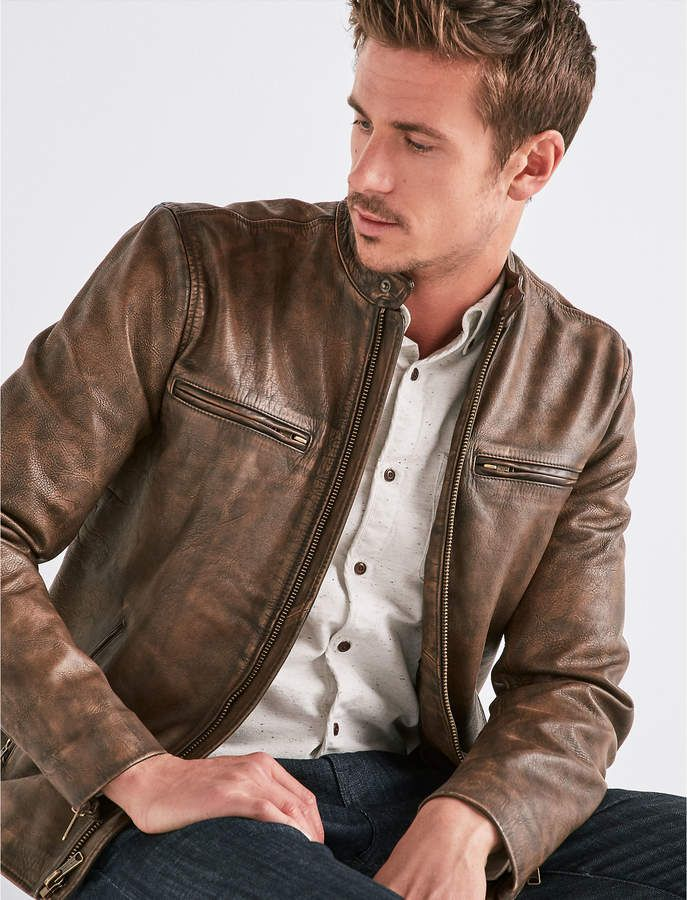 12173699b Lucky Brand VINTAGE LEATHER JACKET | Rugged Rascal - The Stylish Man ...