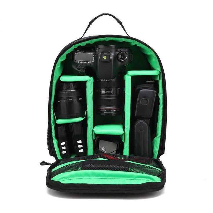 Video Photo Digital Camera Shoulders Padded Backpack Bag Case Waterproof Shockproof Small Bags for Canon Nikon DSLR HU-00