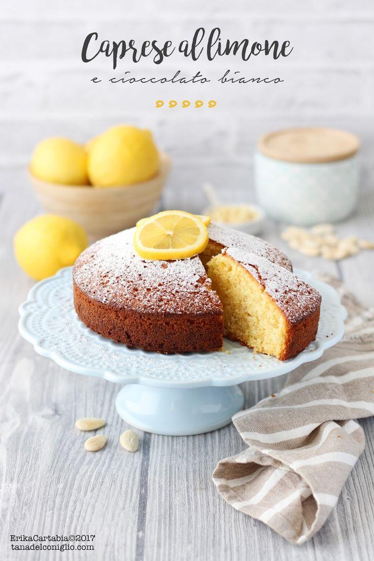 La Caprese al limone e cioccolato bianco  è un dolce tipico della tradizione napoletana. Dalla consistenza umida, profumatissima grazi...