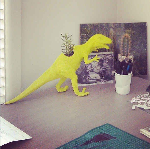 Keep a desk plant. Make sure no herbivores eat it.