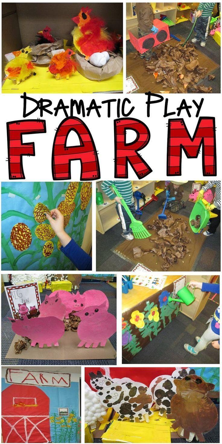 Farm in the Dramatic Play Center for preschool, pre-k, and kindergarten!  Pocket of Preschool