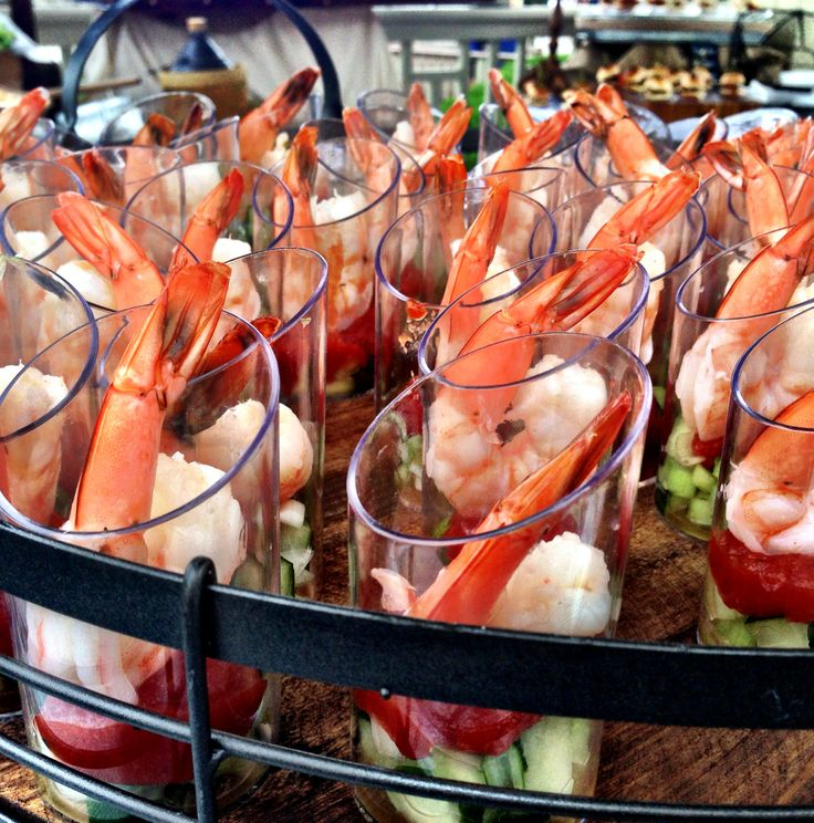 Camaronazo tomato-shrimp cocktail dresses