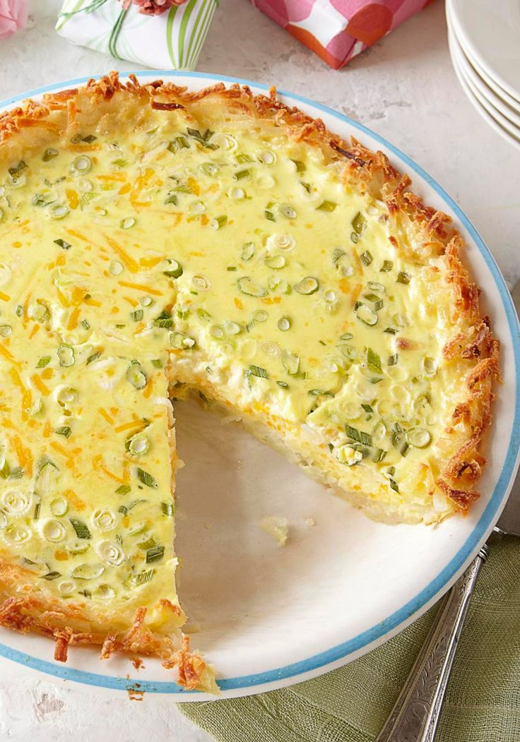 Potato-Crusted Quiche — Sour cream, Cheddar and a touch of cream cheese give this Potato-Crusted Quiche its supremely cheesy, creamy appeal.