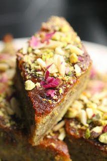 Gâteau baklava aux pistaches ou aux amandes - Baklava cake (almonds or pistachios)