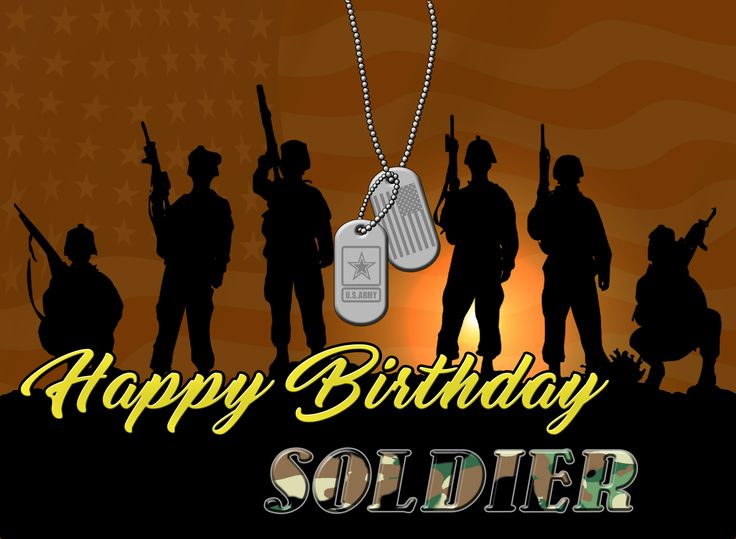 United States Army, US ARMY, Happy Birthday, Soldier, Post Card HD HQ Dog Tags Soldiers