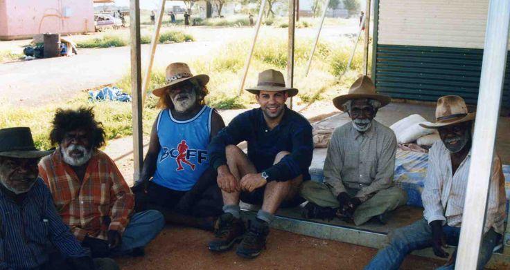 Senior traditional Aboriginal Law men of Yuelamu Community, central Australia