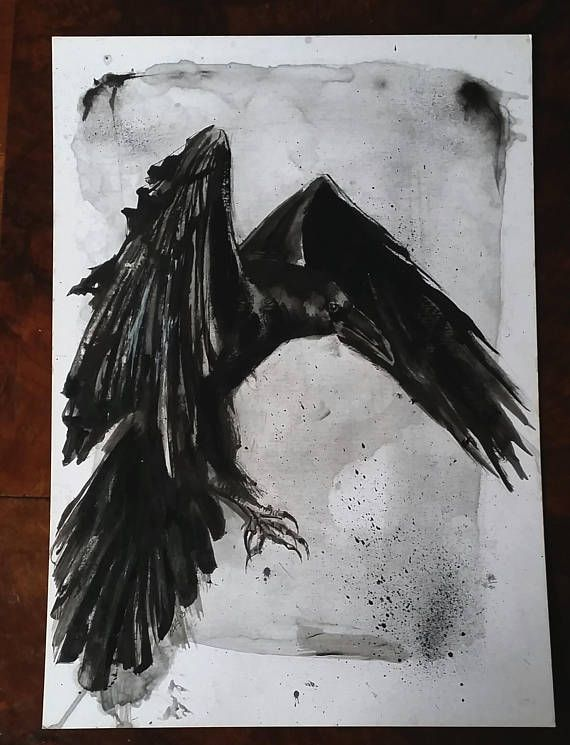 Raven original artwork