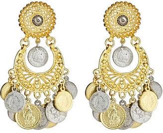 ShopStyle: Ben-Amun Wheel of Change Earrings