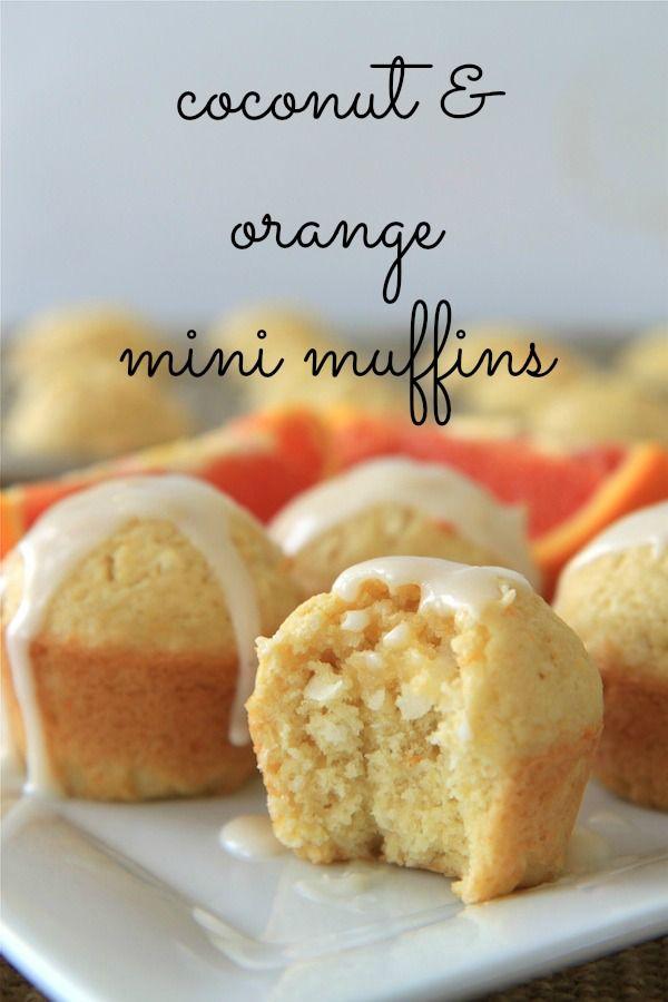 coconut & orange mini muffins #breakfast