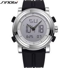 Hot SINOBI Watches Men Top Brand Luxury LED Digital Simulation Quartz Watch Silicone Strap Military Mobile Watch Men Hodinky //Цена: $13 руб. & Бесплатная доставка //  #technology #tech
