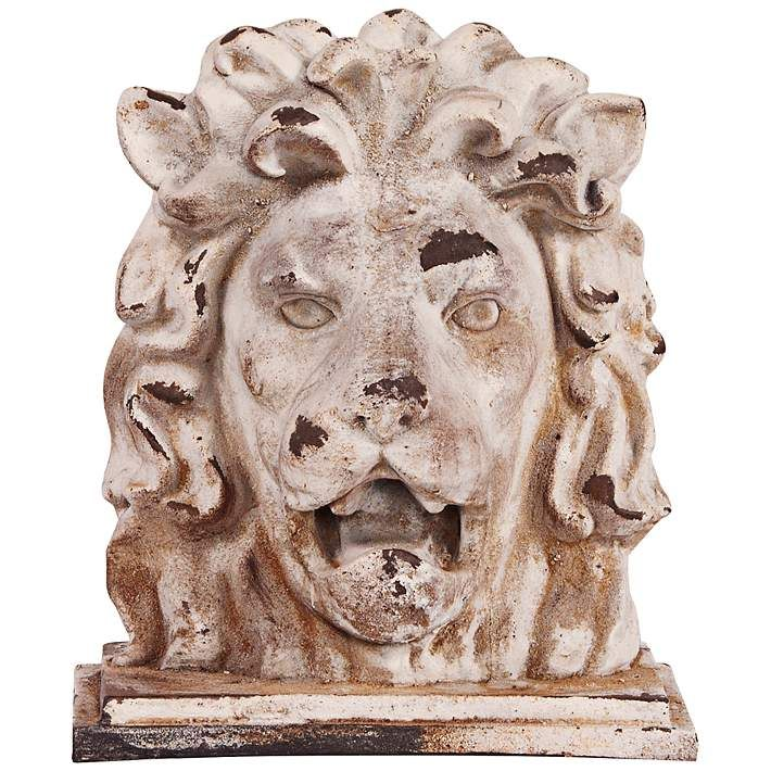 Howard Elliott Rustic Stone 16 High Lion Head Sculpture 6n345 Lamps Plus Stone Lion Sculpture Lion Sculpture
