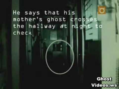 Ghost Videos Scary Videos Real Ghosts Ghost of a Man's Mother Walks the Hallway at Night - YouTube