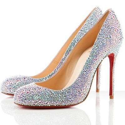 Christian Louboutin Fifi 100 Strass Pumps Aurora Boreale Wedding Shoes  US$178.00 (Free Shipping)