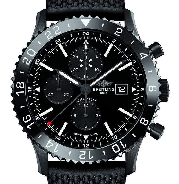 """Breitling Chronoliner Blacksteel Watch - by Kenny Yeo - More on this new Breitling at: aBlogtoWatch.com """"I'm quite fond of the Chronoliner watch that was launched last year by Breitling. It wasn't Breitling's first vintage-inspired watch, of course - there's the entire Transocean collection for that - but I thought that the Chronoliner offered a better mix of vintage-inspired looks and modern toughness and reliability. At this point, I would like to draw your attention to the ceramic…"""
