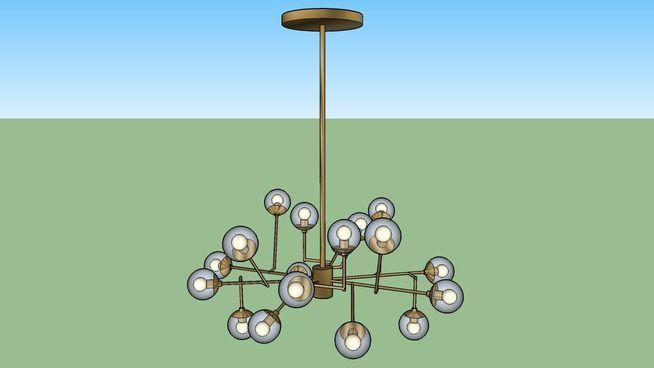 Amplia vista previa del modelo 3D de KG - DALLAS CHANDELIER