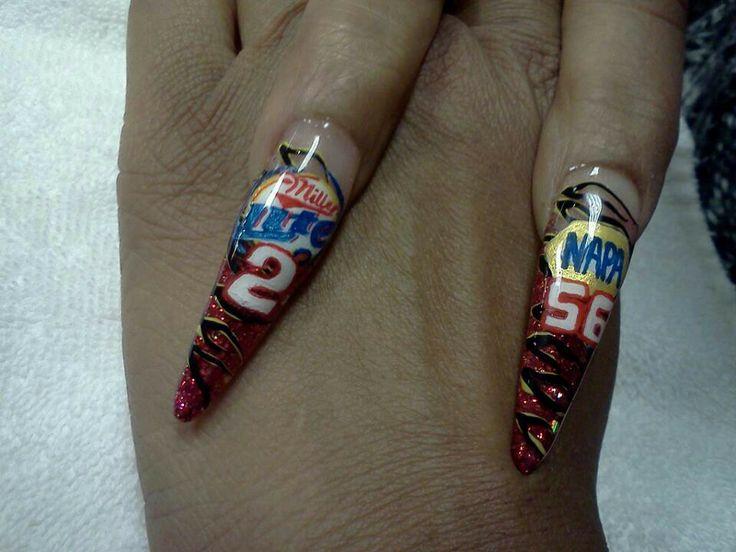 NASCAR nail art - 62 Best Nailgating Images On Pinterest Nascar Nails, Beauty