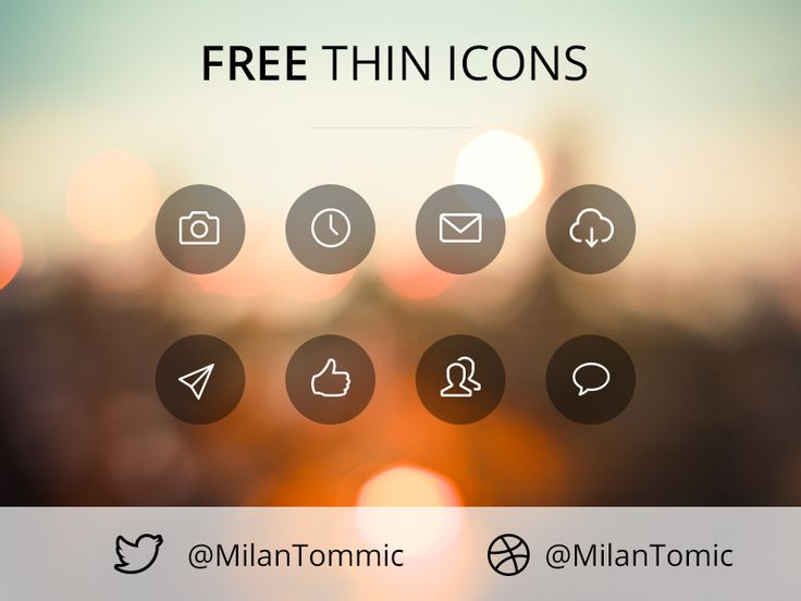 Free Thin Icons by Milan Tomic