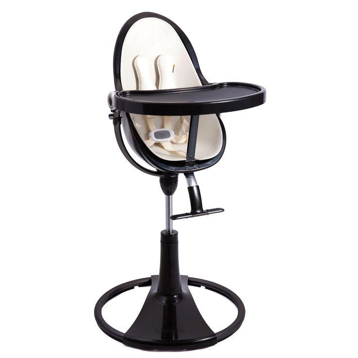 Bloom Black Fresco Chrome Baby High Chair Coconut White