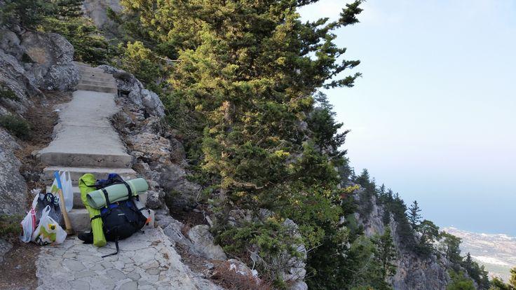 Kamp  için Buffevento  Kalesine tırmanış  başladı...
