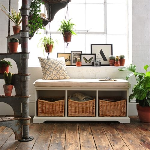 Tetbury Hall Bench with Cushion (E413) with Free Delivery | The Cotswold Company
