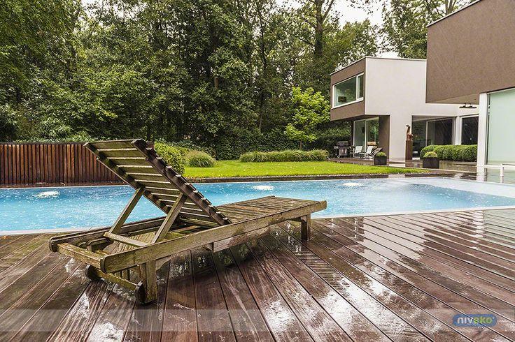 Rainy pool... niveko-pools.com #lifestyle #design #health #summer #relaxation #architecture #pooldesign #gardendesign #pool #swimmingpool #pools #swimmingpools #niveko #nivekopools