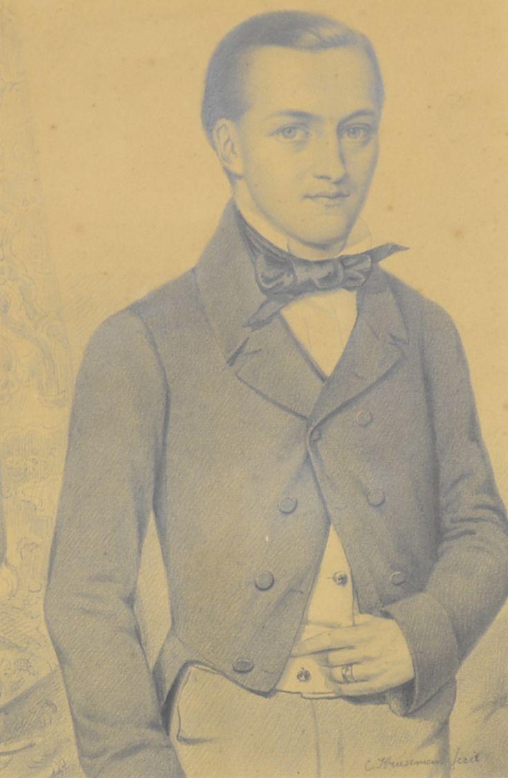 Cornelis Kruseman (1797-1857) Titel: Portret van een dandy - Artiquair