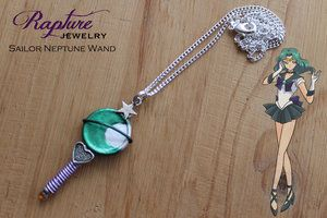 Sailor Neptune Wand Pendant Inspired by Sailor Moon