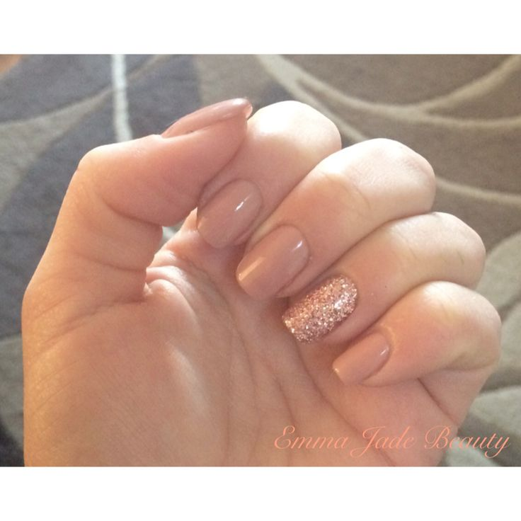 Rose Gold Nail Glitter: Shellac Satin Pyjamas & Rose Gold Glitter