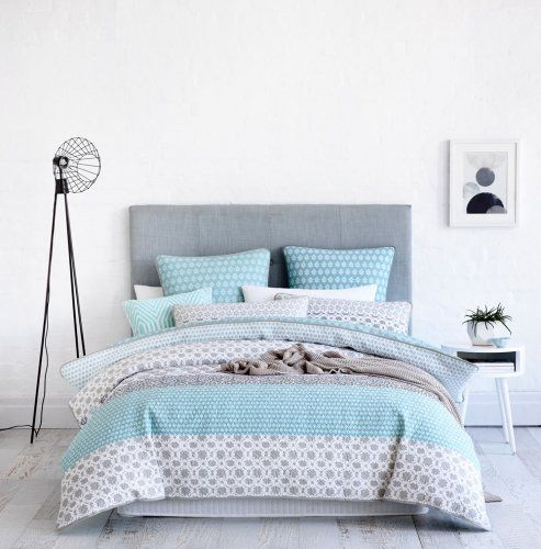 Mercer + Reid Quilt Cover Sets and Linen - Azure, online at Adairs