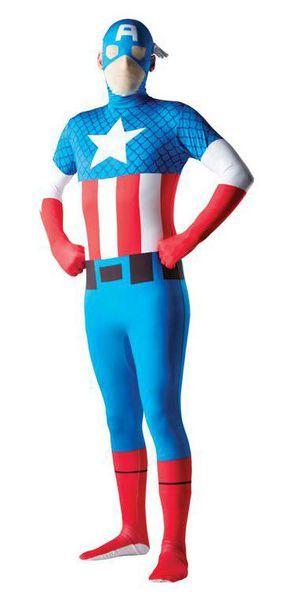 Second Skin Captain America asu. Erillinen huppuosa. #naamiaismaailma