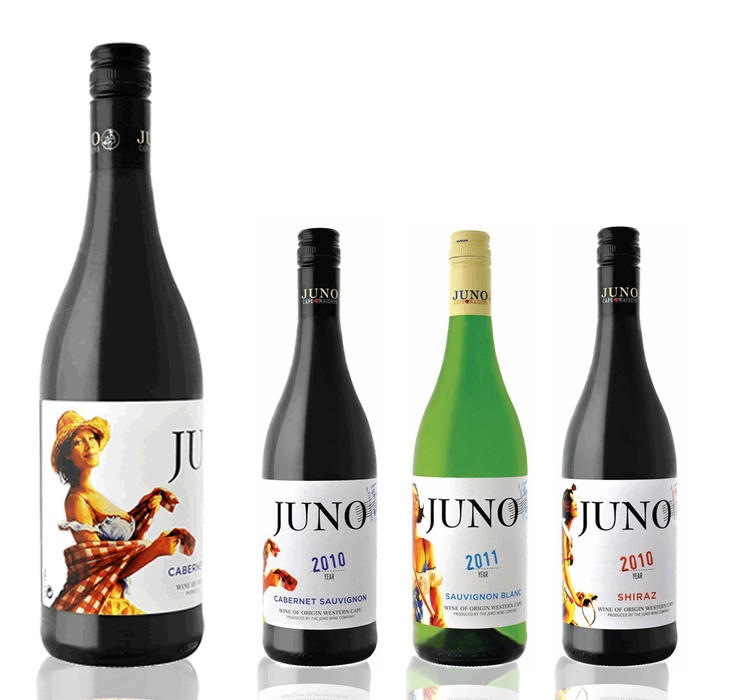 Juno Cape Maidens, South Africa wine label design