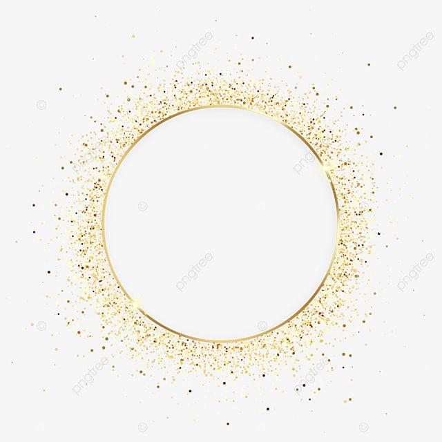Brilho De Moldura Fina De Metal Granulado Dourado Redondo Linda Volta Dourado Imagem Png E Psd Para Download Gratuito Metal Picture Frames Picture Frame Decor Frame Decor