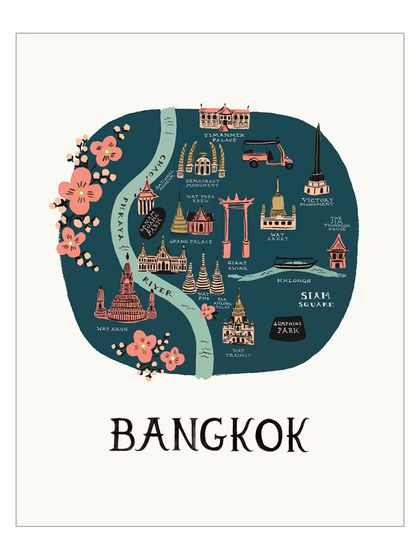 Bangkok Map - Rifle Paper Co.