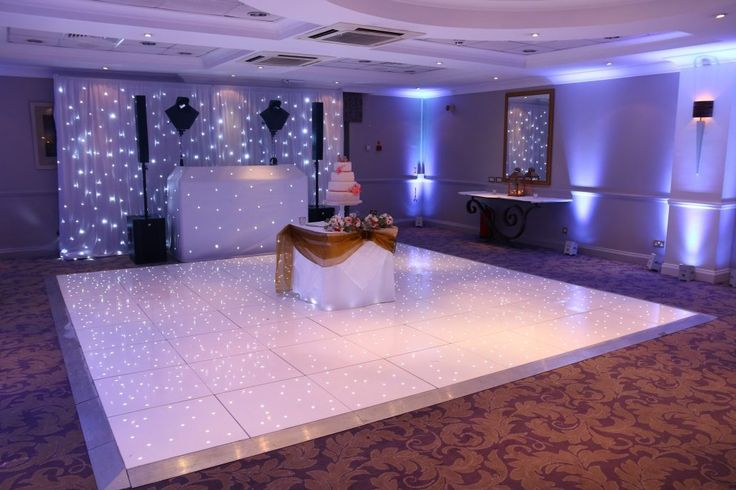 Wedding DJ and White LED Dance Floor Inspiration. Wedding Hire Berkshire, Surrey, South East, South West