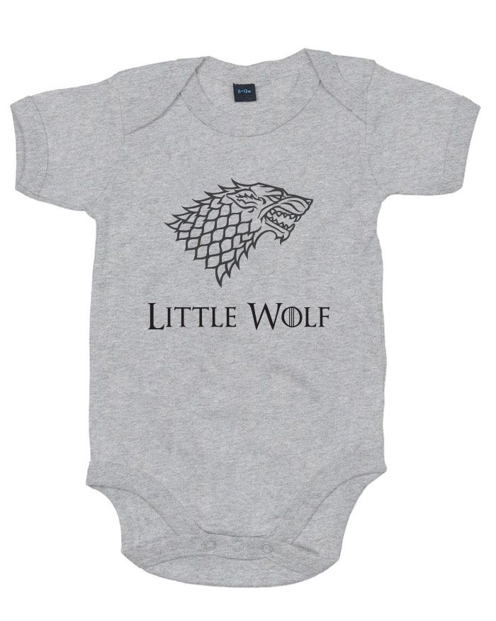 Little Wolf baby grow boy girl vest cute Game of Thrones gift by definemythreads on Etsy https://www.etsy.com/listing/205932878/little-wolf-baby-grow-boy-girl-vest-cute