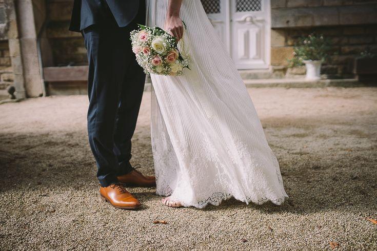 mariage en rose pastel photographe mariage vannes mariage au chateau de kergurione a crach - Photographe Mariage Vannes
