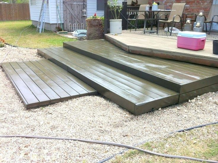 pool decks made out of pallets stained tiered pallet wood ...