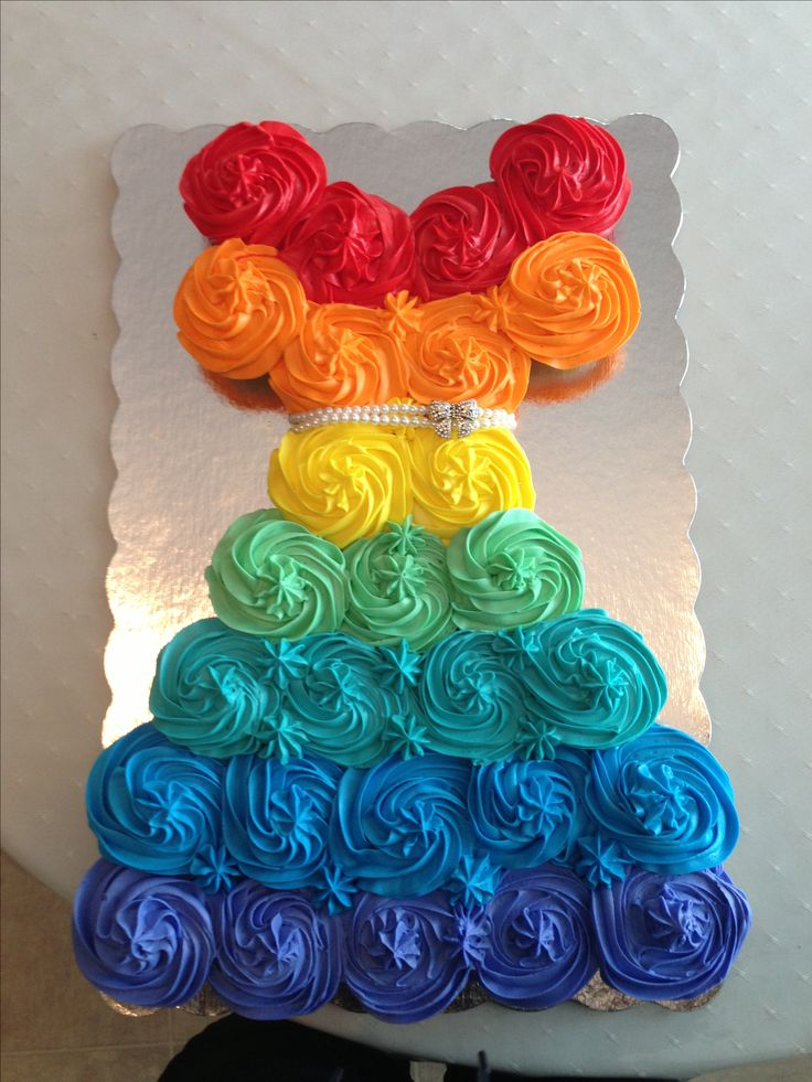 Girl Birthday Pull Apart Cupcake Dress Cake Decorating